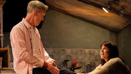 Tom (Louis Dempsey) and Kyra (Rosie Wyatt) in Skylight (c) Josh Tomalin
