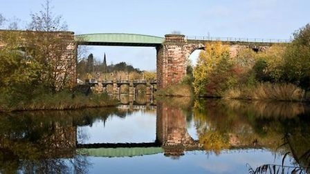 Autumn On the River Weaver by Ron Sutton