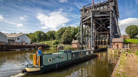 Anderton Boat Lift by Wynford Evans