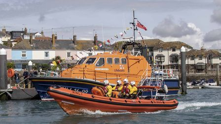 Salcombe RNLI's inshore lifeboat will be at the centre of the 150th anniversary celebrations