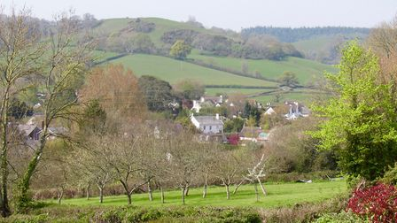Beautiful views across Sidbury from the final stage of the walk