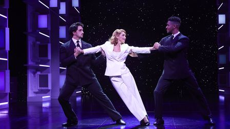 Louise Redknapp as Violet Newstead in 9 to 5 The Musical Credit: S Turtle