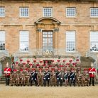 Cheshire Yeomanry C Squadron at the Queens Own Yeomanry Guidon Parade in the presence of HRH The Pri