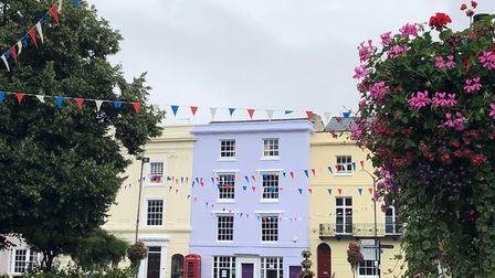 Colourful buildings in Alcester