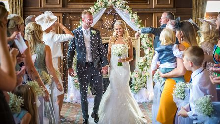 Scott and Lucy got married in the Great Hall at the London Golf Club (photo: Steve Barber Wedding Ph