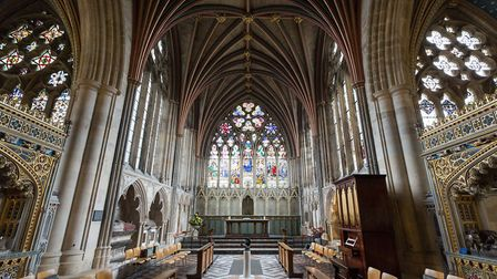 Take a look inside Exeter Cathedral to see some incredible stained glass and gothic architecture
