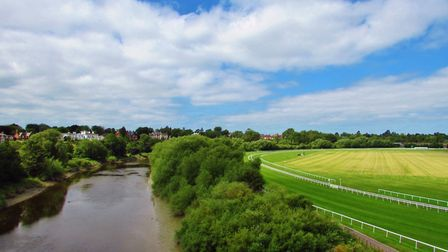 View from the Grosvenor Bridge toward the racecourse and the Dee