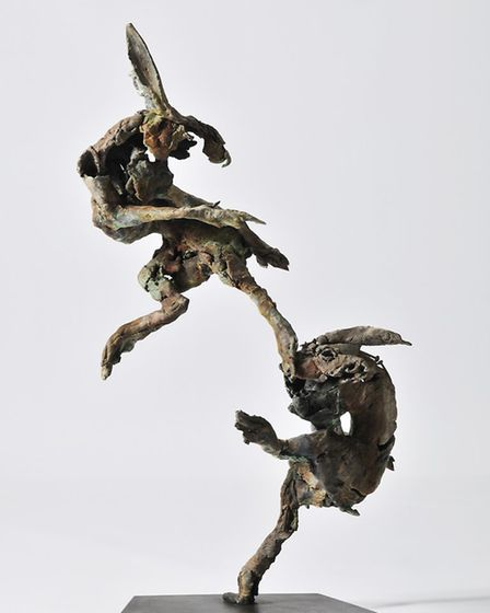 Fighting Hares, a piece bought by Keanu Reeves Credit: Mills Media