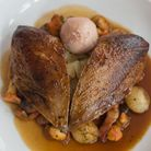 Roast grouse with choucroute (photo: Manu Palomeque)