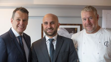 Managing partner Marcel Faulstich, general manager Michele Calemma and Executive chef-patron Andy Mc