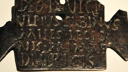 Religious dedication from a Roman legionary, which has 'deo invicto' on the top line, i.e. 'God unbe