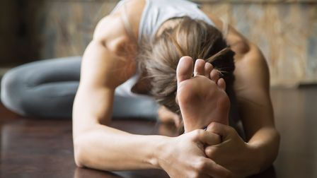 Yoga increases flexibility and strengthens muscle tone and helps you feel more positive about yourse