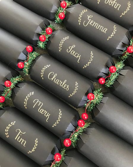 Calligraphy crackers by Inkspire Calligraphy