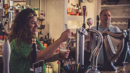 Alice Bryant pulling a pint: 'We knew the pub - it had a lovely vibe. It had become part of our live