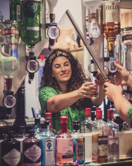 Alice Bryant behind the bart: 'We knew the pub - it had a lovely vibe. It had become part of our liv