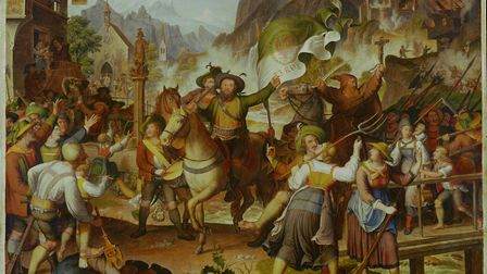 Tyrolean militia 1809. In the center Andreas Hofer, leader of the Tyrolean resistance to Napoleon, p
