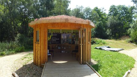 The Welcome hut at Blashford Lakes. Photo: Lucy Wiltshire