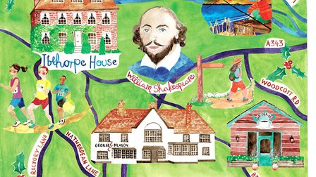 Hurstbourne Tarrant Illustration by Lucy Atkinson