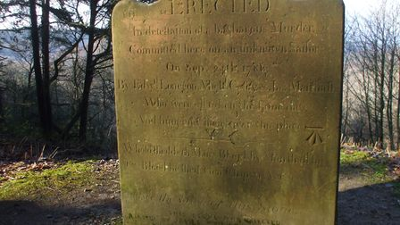 The 'Sailor's Stone', Hindhead, close to the murder scene of 1786
