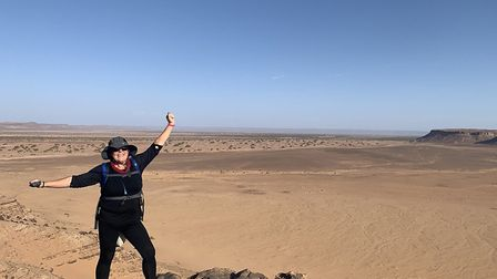 Mindy and her colleagues in the Sahara