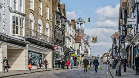 Guildford High Street in Surrey