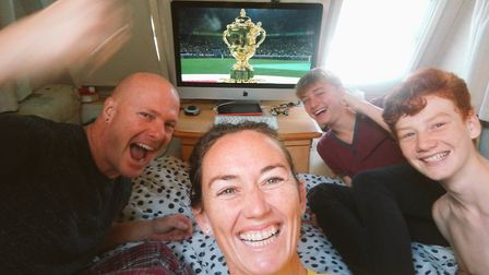 In the caravan celebrating South Africa's victory in the Rugby World Cup