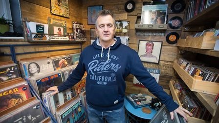 Henry Tragett, owner Electric Palace Records in Tenterden (photo: Manu Palomeque)