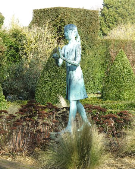 'Girl Holding the Lamp of Wisdom' by Nathan David in The Formal Garden (photo: Mandy Bradshaw)