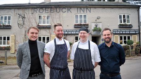 from left, General Manager, Kieran Garrihy, Chef, Andy Tower, Chef, Phil Smith and Deputy Manager, C