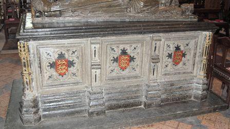 King John''s tomb in Worcester Cathedral ('photo: Greenshed')
