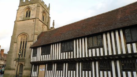 The old grammar school in Stratford-upon-Avon, which William Shakespeare almost certainly attended (