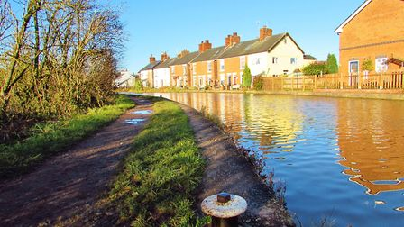 View along the Trent and Mersey Canal