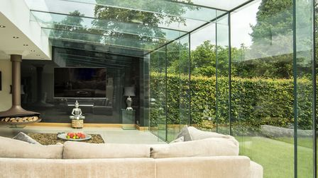 A glass room makes a stunning additional space