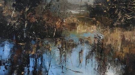 Shatterford 80cm x 80cm by Claire Wiltsher