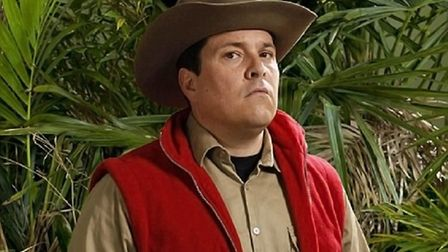 Dom Joly in the jungle. Pic: ITV Pictures