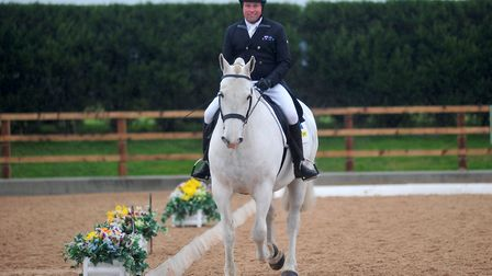 Andrew Heffernan, Dutch Olympic Event Rider at the Horses for Hope GB Dressage event raising funds for the Australian bush...
