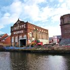 Linotype Works, beside the canal