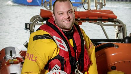 Daniel Gurr is a helm at Brighton Lifeboat Station where he has volunteered since he was 18 (c) Jim
