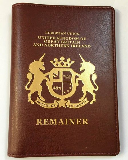 The New European's remainer passport cover. Picture: The New European
