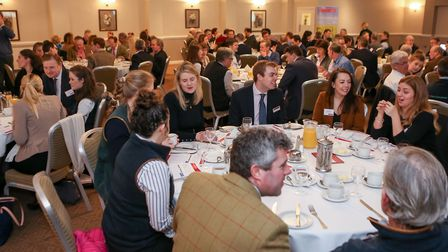 Hazlewoods hold a breakfast for members of the agricultural community at Hatherley Manor Hotel, Up H