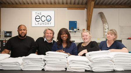 Lola and her team at the Eco Laundry: 'I don't even have a sign on our office!'