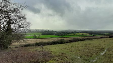 Winter view from North Downs, near Denbies by Chris Howard