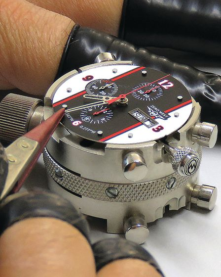 Putting together Zero West's CR-1 Chronograph watch in their Emsworth workshop Photo Chris Ison