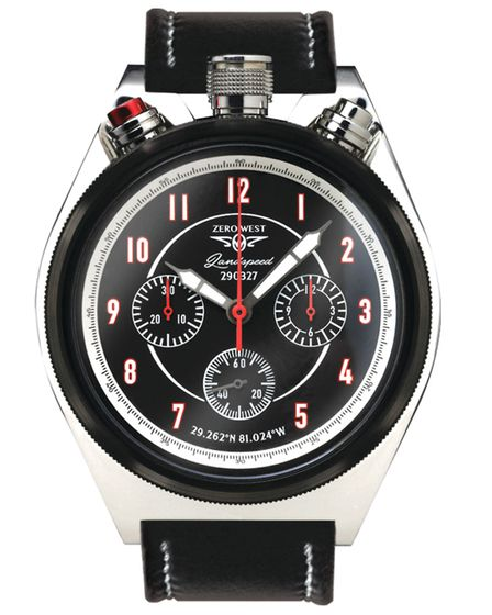 Zero West's LS-1 Landspeed watch - which has its crown and pusher at the top of the dial to resemble