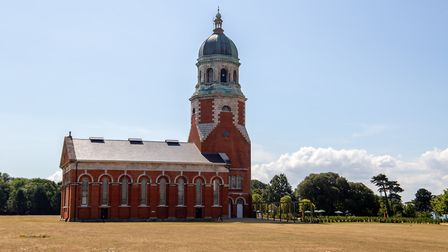 The renovated chapel at Royal Victoria Country Park
