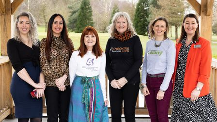 Event sponsors and organisrs: Kim Meadows and Kayleigh Irons from Nat West, Sue France of Creative C