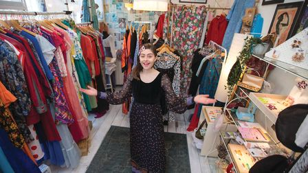 Georgie Roberton, owner of Peony Vintage in Margate (photo: Manu Palomeque)