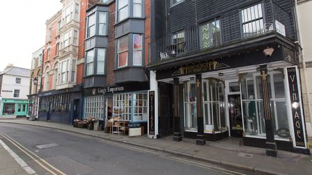 KIng Street is one of the main centres foir vintage and second-hand clothing in Margate Old Town (ph