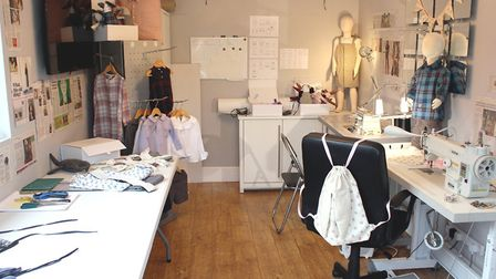 Sarah's converted garage-cum-sewing room is the perfect set-up for Cherished Pieces admin, sourcing