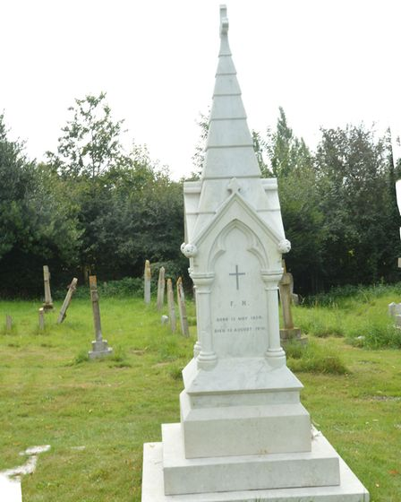 The Nightingale family grave in East Wellow Photo: William Gibson